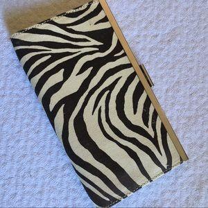 New Banana Republic Zebra Clutch Bag Pouch $28